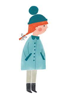 ekaterina trukhan, kids illustration, design, drawing, painting, cute, illustration, winter