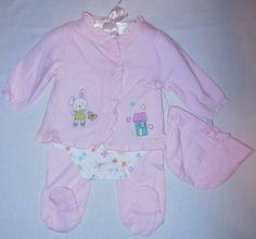 Nursery Rhyme Baby Girls 4pc Clothing Set (0-3 « Clothing Impulse