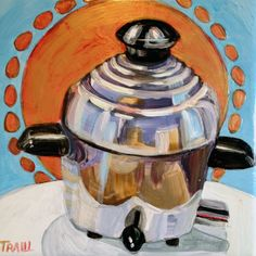 Fine Art and Art Lessons of Artist, Art Teacher, Jennie Traill Schaeffer, located in West Orange, NJ, specializing in portfolio development, contemporary paintings, commissions, vintage kitchen appliance art, aprons, landscapes, artistic gifts,