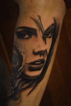 tattoo by Tomek Machon Deviantart, Portrait, Tattoos, Artist, Tatuajes, Headshot Photography, Tattoo, Artists, Portrait Paintings