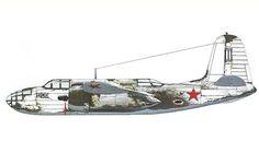Douglas A-20 B Havoc con camuflaje de invierno, Flota del Norte, Fuerza aérea Rusa. Pin by Paolo Marzioli