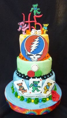 Grateful Dead Grooms cake idea, I think this could be it! Should it be at the actual wedding or the rehearsal?