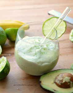 Healthy key lime pie smoothie is single-serve treat that only takes 4 ingredients and 5 minutes to put together.