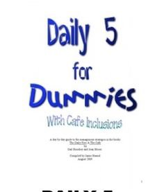 Daily five for dummies - first twenty days lesson planned