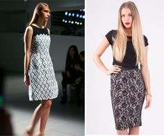 Embrace the trend for lace, as seen at LFW for Spring/Summer 14. Worn in bright neons or cute day dresses, lace is definitley shaping up to be a must have element for your summer wardrobe. Get on trend now with our beautiful range of on trend pieces, including our floral lace midi skirt £9.99 including free delivery x >>http://hiddenfashion.com/high-rise-floral-lace-sequin-embellished-pencil-skirts.html#lace #cutout #floral #trend #fashion #style #catwalk #lfw