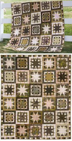 This would make a great taupe quilt.  BOX OF STARS QUILT KIT