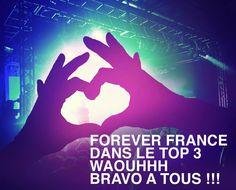 FOREVER FRANCE DANS LE TOP 3 DU CLASSEMENT MONDIAL !!! MERCI A TOUS !!! #FGR15