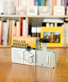 そんな「PINK FLAG」が手掛ける「PILLAR BRACKET(ピラーブラケット)」は、おうちの壁面や何もない空間部分に「柱」を作ることができるパーツです。