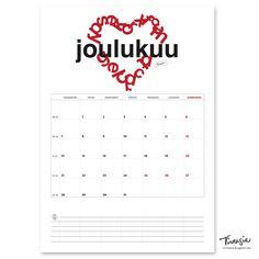 Joulukuun 2020 tulostettava seinäkalenteri #joulukuu #December2020 #kalenteri #tulostettava #ilmainen #calendar #print #free #virtasia