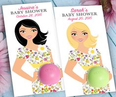EOS Baby Shower Favors - Printable Favor Tags  -Personalized Thank you favors