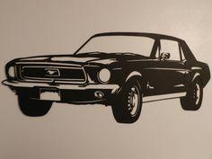 Vintage Ford Mustang Metal Wall Art von SunsetMetalworks auf Etsy