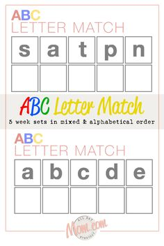 ABC Letter Match fun learning activities for kids.
