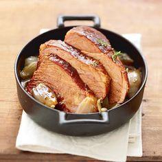 Palette de porc caramélisée aux échalotes