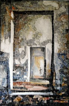 Patricia Hourcq is amazing! This mosaic is like walking through a forest. She is a true aartisan!