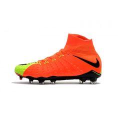 sale retailer 67279 a88b7 Best 2017 Nike Hypervenom Phantom III DF FG Online Red Yellow Football Shoes