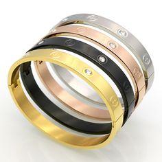 Hot bán vài vòng đeo tay chữ thập trục vít quà tặng cho phụ nữ titanium thép mạ vàng thời trang nam trang sức tình yêu vòng tay & bangles