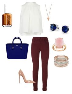 """""""Hello."""" by princesalatina on Polyvore featuring J Brand, Christian Louboutin, Pamela Love, Bling Jewelry and Essie"""
