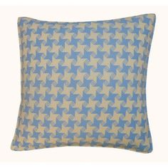 Jiti Houndstooth Outdoor Throw Pillow Color: Blue