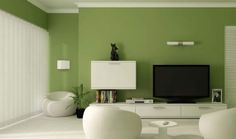 Green Living Room Design Ideas: Decorations And Furniture 20