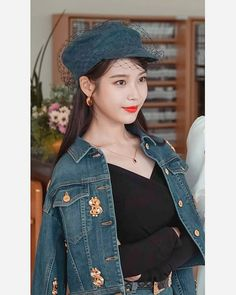 From Audrey Hepburn looks, to Chanel leather coats, to Denim ensembles, you will surely love IU's killer styles in spite of her devilish attitude in Hotel del Luna. Shop the entire look here Luna Fashion, Fashion In, Denim Fashion, Korean Fashion, Korean Actresses, Asian Actors, Winter Looks, Butterfly Print Dress, Camille