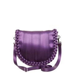 Sophia Saddle Bag Mulberry. Harvey keeps coming up with cuter and cuter seatbelt bags!