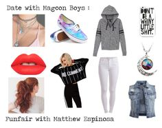 """Date with Magcon Boys : Funfair with Matthew Espinosa"" by x-jademurphy-x ❤ liked on Polyvore"