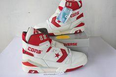 1987 DS Men's Converse Cons ERX 260 Hi Basketball 12 5 White Red Grey Vtg | eBay