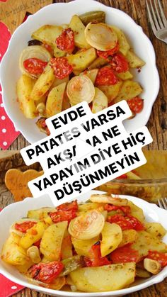 #yemek #pratikyemek Baked Potato, Sweet Potato, Turkish Breakfast, Potato Dinner, Iftar, Food And Drink, Yummy Food, Vegetables, Cooking