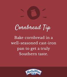 Bake+cornbread+in+a+well-seasoned+cast-iron+pan+to+get+a+truly+Southern+taste.