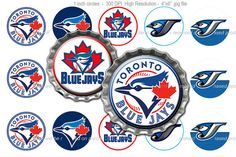 Toronto Blue Jays MLB Bottle Cap Images 1 inch size by CapGrafix ... GERG