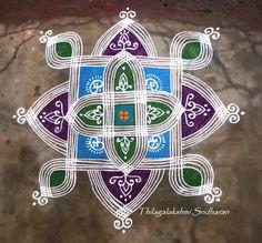 Rangoli and Art Works: Margazhi - Day 29 Kolam Padi Kolam, Kolam Rangoli, Pooja Mandir, Floor Art, Simple Rangoli, Rangoli Designs, Day, Pink, Saree