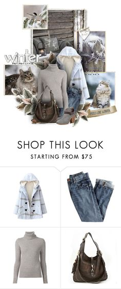 """""""Winter cats, winter bird"""" by sagramora ❤ liked on Polyvore featuring J.Crew, Chloé, Gucci and rag & bone"""