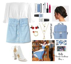 """Belle"" by disneyfashioneveryday ❤ liked on Polyvore featuring Sans Souci, Alexandre Birman, Clinique, 100% Pure, Gap, OPI, MICHAEL Michael Kors and Casetify"