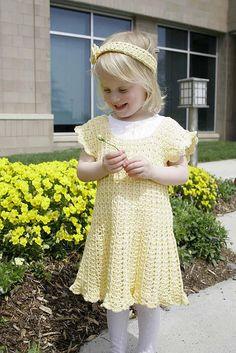 Crochet Dress with Matching Doll Dress