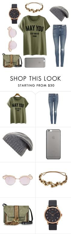 """""""milkshake and fries"""" by lanah13 ❤ liked on Polyvore featuring rag & bone, BCBGMAXAZRIA, Native Union, Le Specs, Jennifer Behr, L'Autre Chose and Marc Jacobs"""
