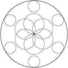 Resultado de imagen para como hacer un mandala simple