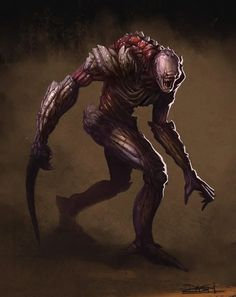 Monster Concept Art, Alien Concept Art, Creature Concept Art, Monster Art, Creature Design, Dark Creatures, Alien Creatures, Fantasy Creatures, Cool Monsters