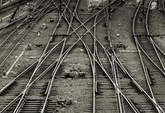 Railroad tracks, photo taken by Gerard Smulevich