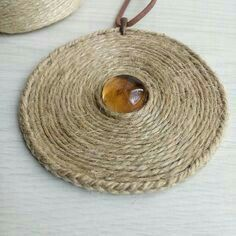 Rope Jewelry, Leather Jewelry, Clay Jewelry, Jewelry Crafts, Beaded Jewelry, Handmade Jewelry, Jewellery, Textile Jewelry, Fabric Jewelry