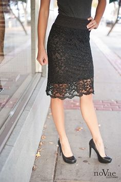 Crocheted Black Skirt