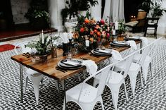 Inspired by Ink: An Edgy Wedding for the Artistic Couple - Green Wedding Shoes Edgy Wedding, Romantic Wedding Decor, Wedding Styles, Wedding Flowers, Black And White Tiles, Wedding Place Settings, Bright Flowers, Green Wedding Shoes, Plan Your Wedding