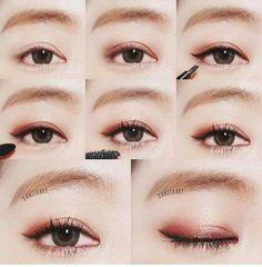 Dual Magnetic False Eyelashes, All New Reusable False Magnet Eyelashes, No Glue 1 pair piece) Ultra Thin Fake Eyelashes for Natural Look, Charming Eyelashes In Seconds (Black) - Cute Makeup Guide Asian Makeup Looks, Asian Eye Makeup, Korean Makeup, Korean Eyeshadow, Makeup Eyeshadow, Makeup Brushes, Eyeshadows, Asian Makeup Before And After, Asian Makeup Tutorials