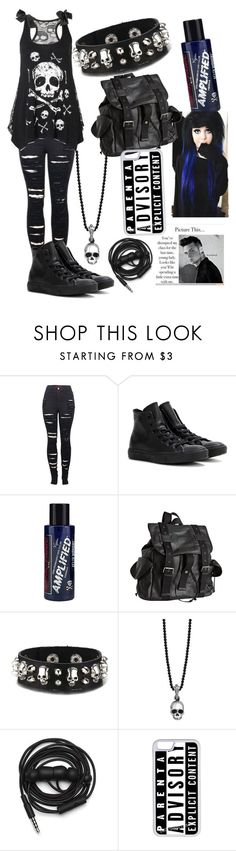 """""""School outfit"""" by musiclover135 ❤ liked on Polyvore featuring 2LUV, Converse, Manic Panic NYC, Joe's Jeans, King Baby Studio, Urbanears and CellPowerCases"""