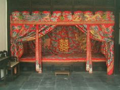 Beijing | Forbidden City, The Emperor's bridal bed last used by Emperor Guangxu