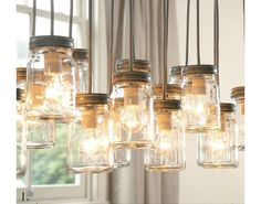 Mason Jar lights w/ Edison bulbs