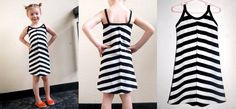 A-line black and white sundress with sparkle gold highlights