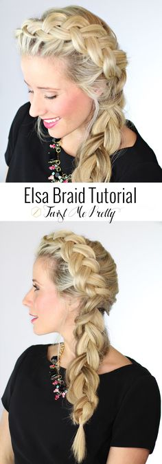 The Elsa Braid from Frozen!!!  This is the prettiest dutch braid I've ever seen-- must learn.  Tutorial at Twist Me Pretty