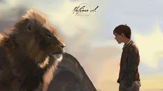 Aslan and Edmund - Narnia by Felicence.deviantart.com on @DeviantArt