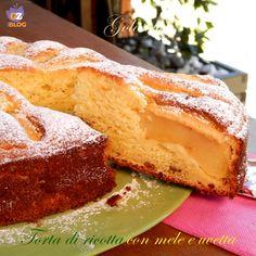 Torta+di+ricotta+con+mele+e+uvetta,+ricetta+sofficissima!