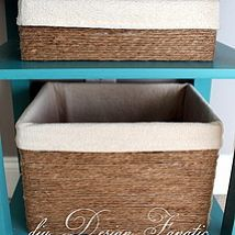How scary- I am collecting different size cardboard boxes - thinking on what type of contact paper I need...and here is a better idea.  USE JUTE - or even twine!  Make Baskets Out of Cardboard Boxes